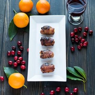 Christmas bacon, prunes and sausages – freezable