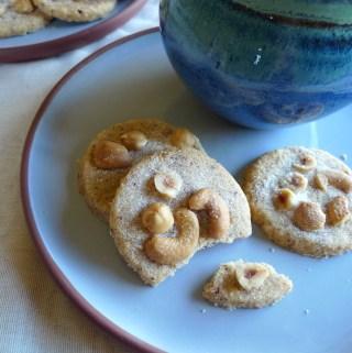 Cashew and hazelnut shortbread