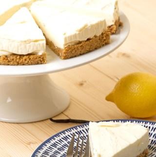 Madagascan vanilla and lemon cheesecake