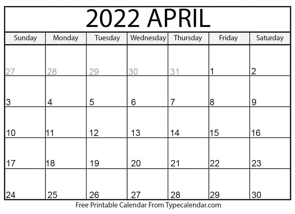 Time rules our lives, with appointments and deadlines guiding us through our days. Free Printable April 2022 Calendars