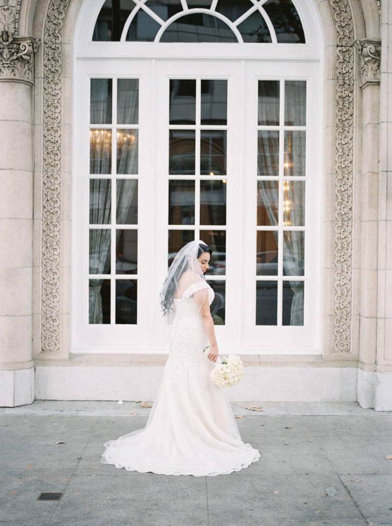a bride before her wedding at The Westin San Jose