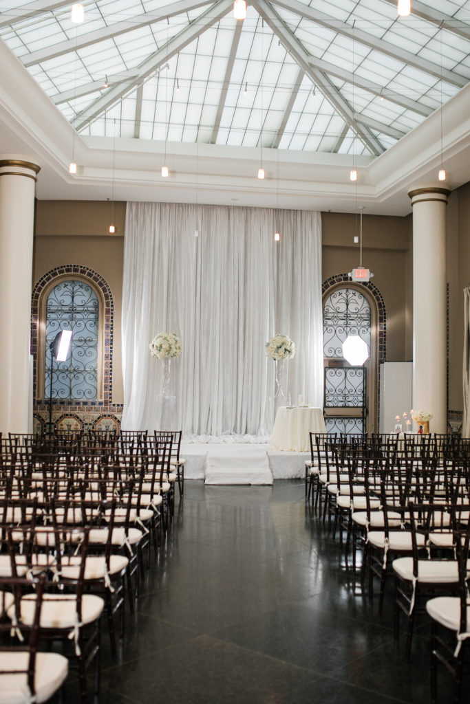 beautiful ceremony area for a wedding at The Westin San Jose