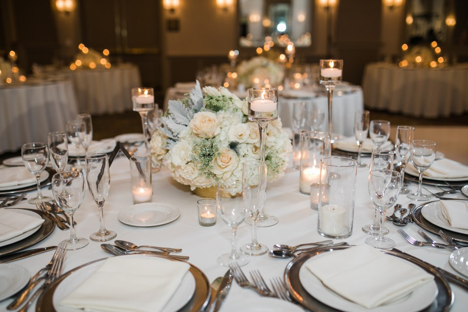 beautiful reception details for a wedding at The Westin San Jose