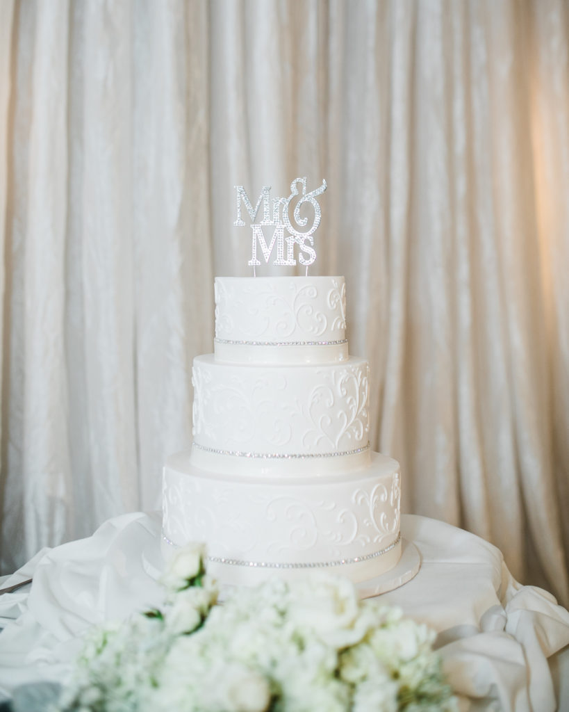 wedding cake for a wedding at The Westin San Jose