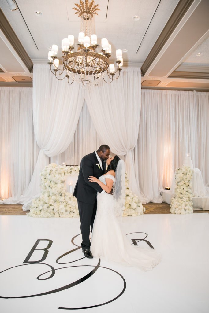bride and groom's first dance at their wedding at The Westin San Jose