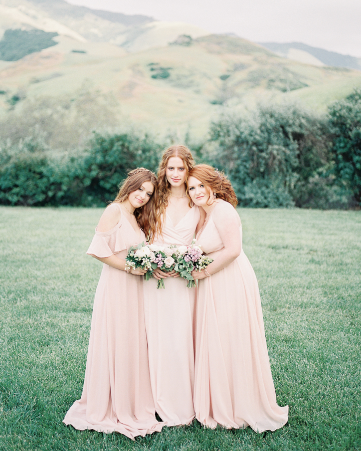 wedding planning tips: complimentary color bridesmaids dresses