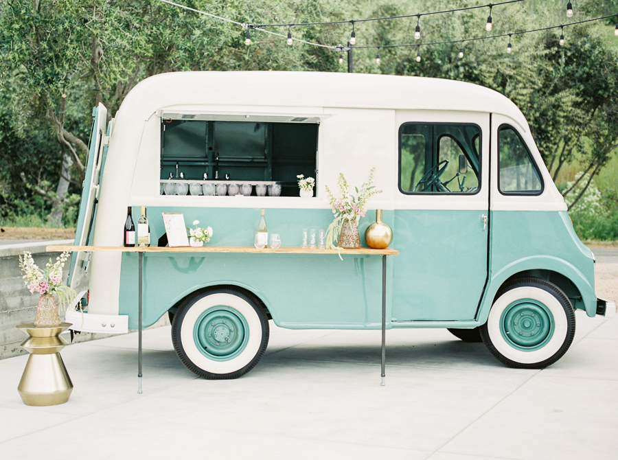 mobile bar at a wedding