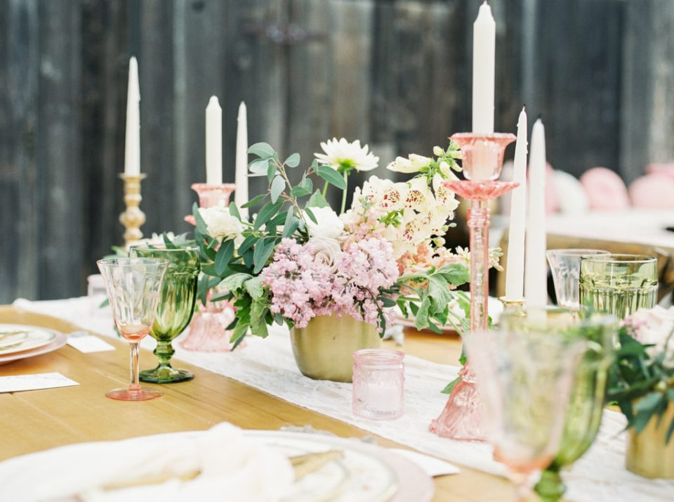 a beautiful table scape for planning a boho wedding