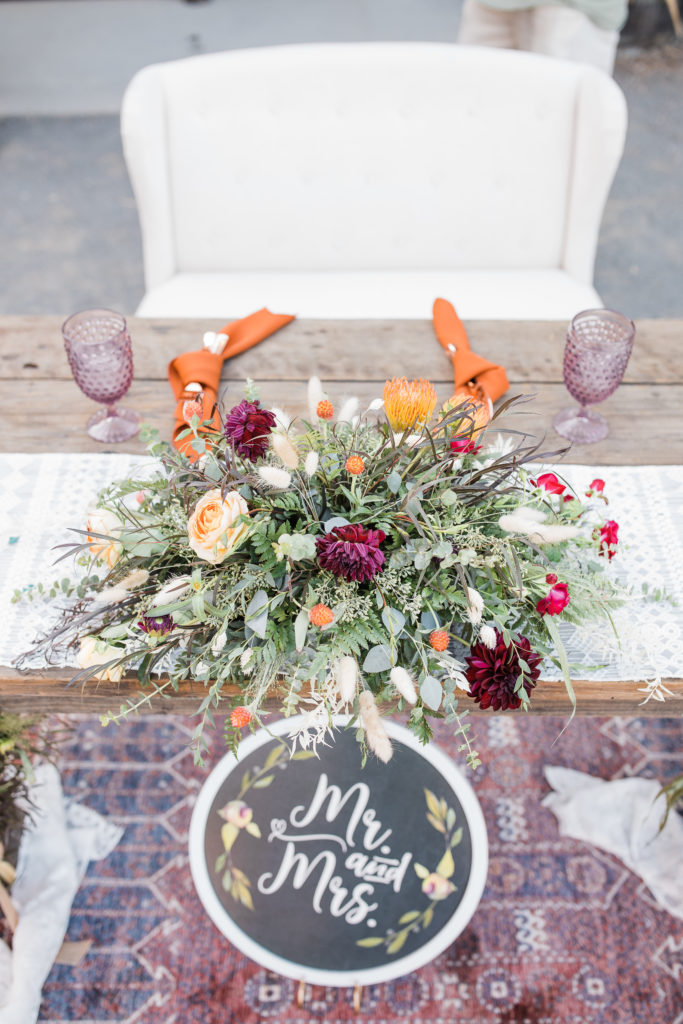 sweetheart table designed by a wedding planner