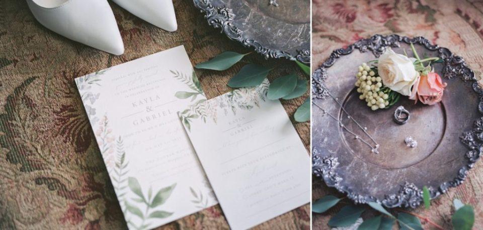 a bride's wedding details for her Dunbar House wedding