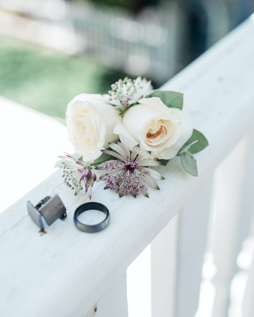 groom's details for his Dunbar House wedding