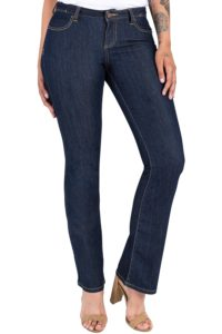 best jeans for curvy women, Lexi Basic Slim Boot Cut Skinny Mid-rise Curvy Jeans