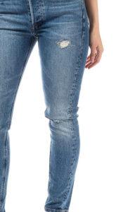 forward seam on jeans closeup