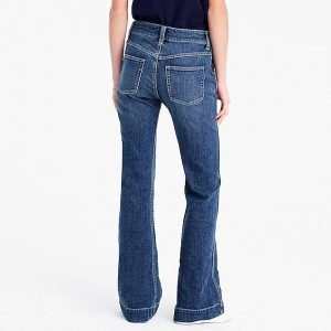 trouser jeans with standard back pockets - back view