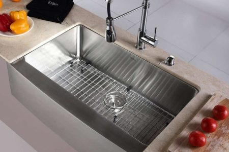 Types of Kitchen Sinks     Read This Before You Buy Kraus KHF200 33 Farmhouse Single Bowl Stainless Steel Sink