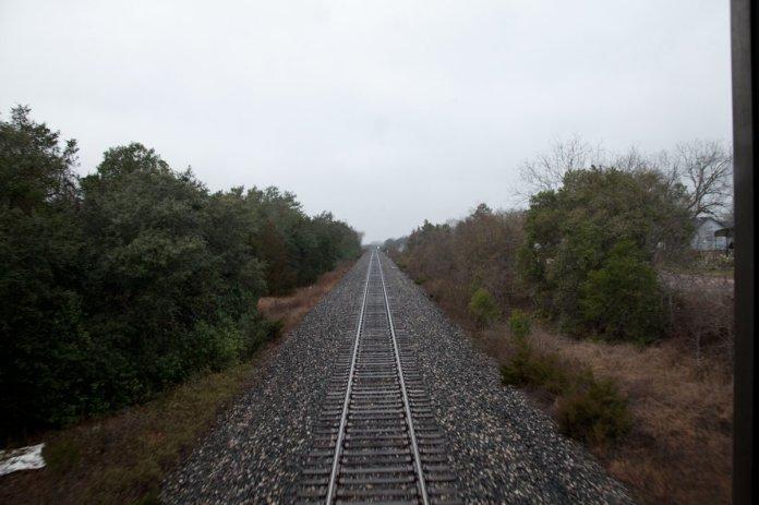 Amtrak Louisiana Railroad Tracks Billimarie Typewriter Poetry