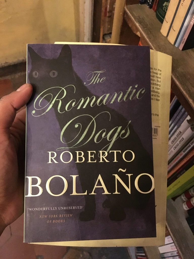 """I read """"The Romantic Dogs"""" by Roberto Bolaño while living in a bookstore in Paris last year."""