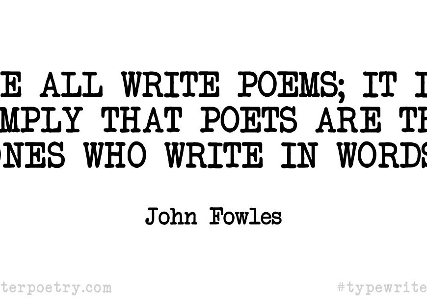 Inspirational Quote for National Poetry Month
