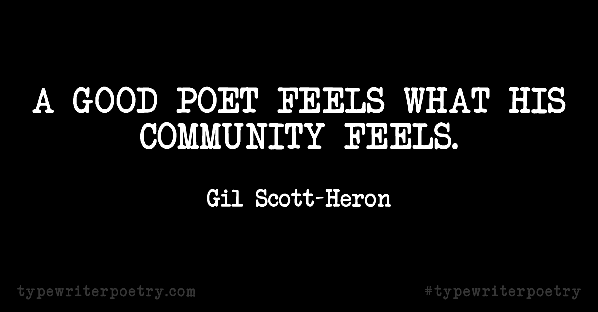 Day 27: Inspiration from Gil Scott-Heron (National Poetry Month)