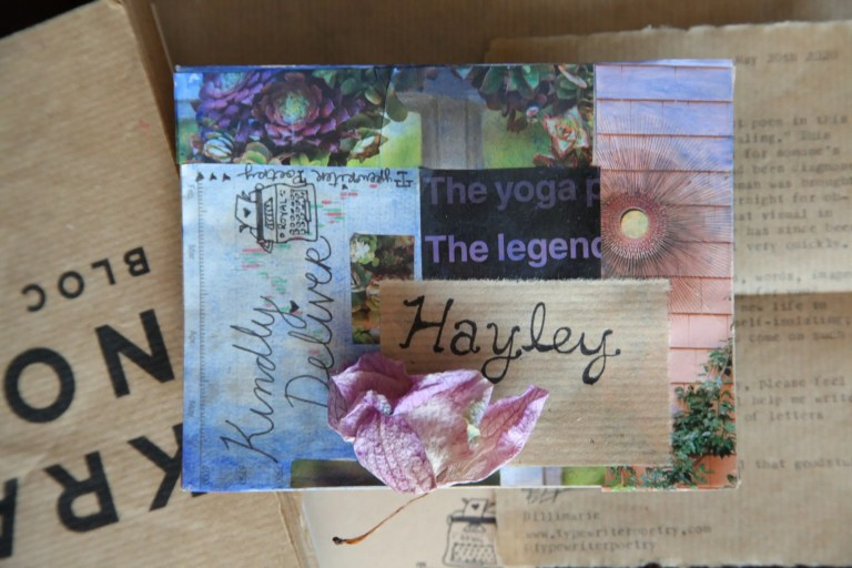 Quarantine Poetry - Typewriter Poetry - COVID19 Care Package: Poetry, Poem, Letter, Flower, Mail Art, Snail Mail