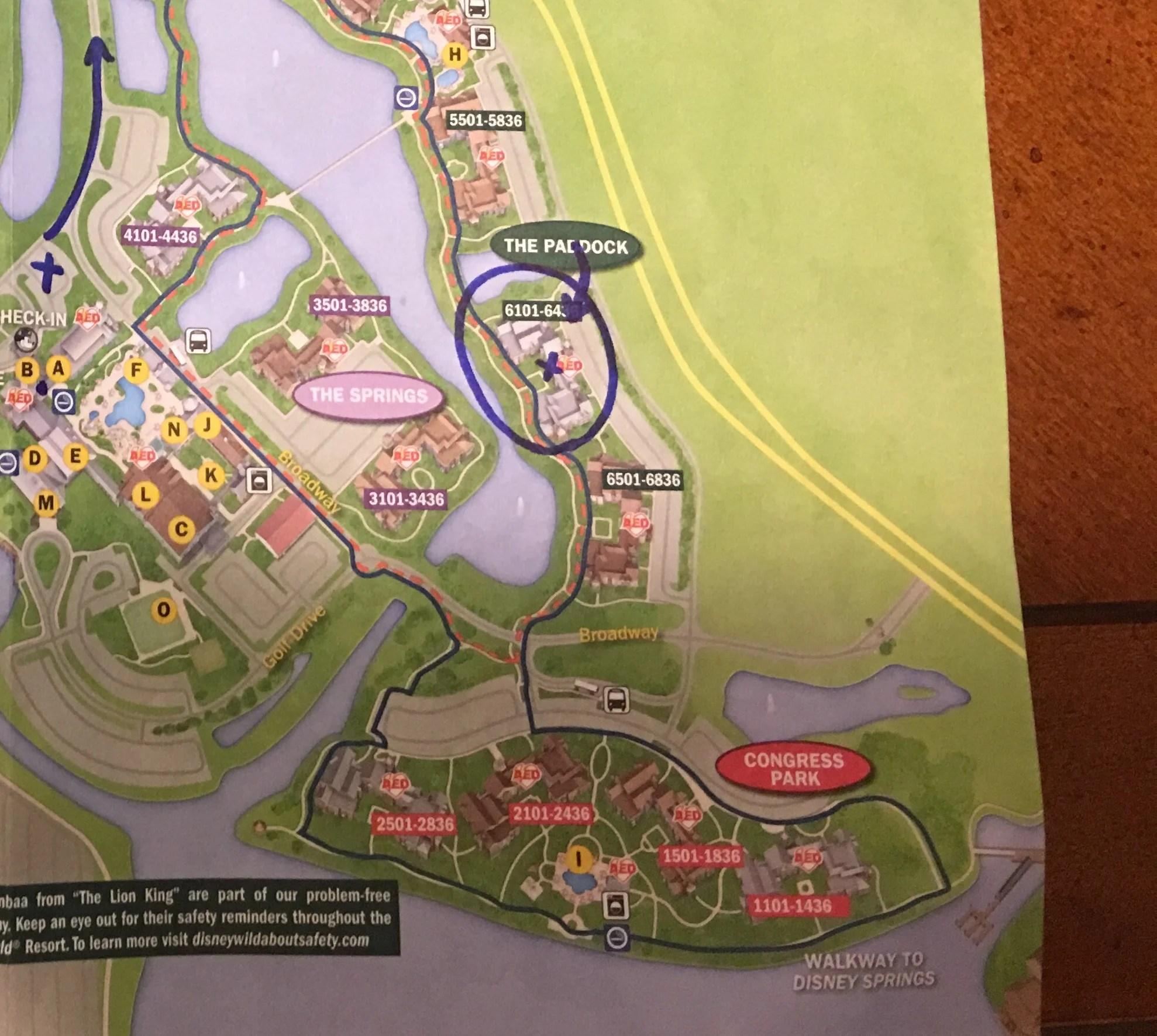 Saratoga Springs  map  paddock  Dvc  disney Springs  paddock pool. Disney Vacation Club  Saratoga Springs Resort Review