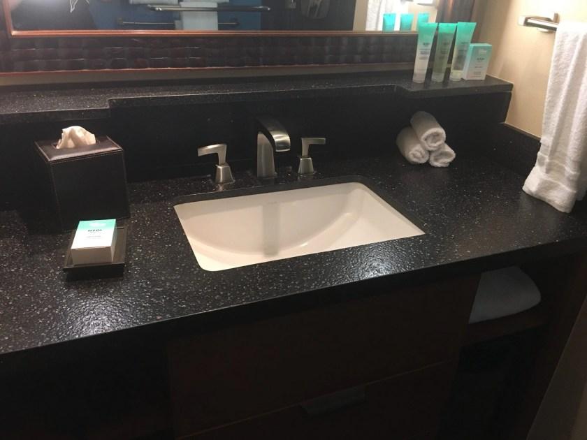 Disney Vacation Club Studio at the Polynesian Village Resort Bathroom 1 sink