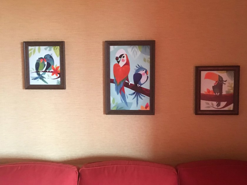 Polynesian Resort DVC studio bird framed art