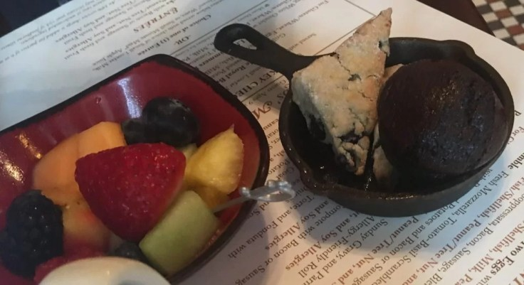 gluten-free pastries, fruit, Trattoria al Forno: Walt Disney World's Bon Voyage Breakfast
