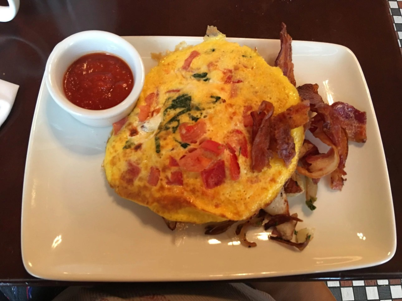 Tangled eggs, Trattoria al Forno, Walt Disney World's Bon Voyage Breakfast