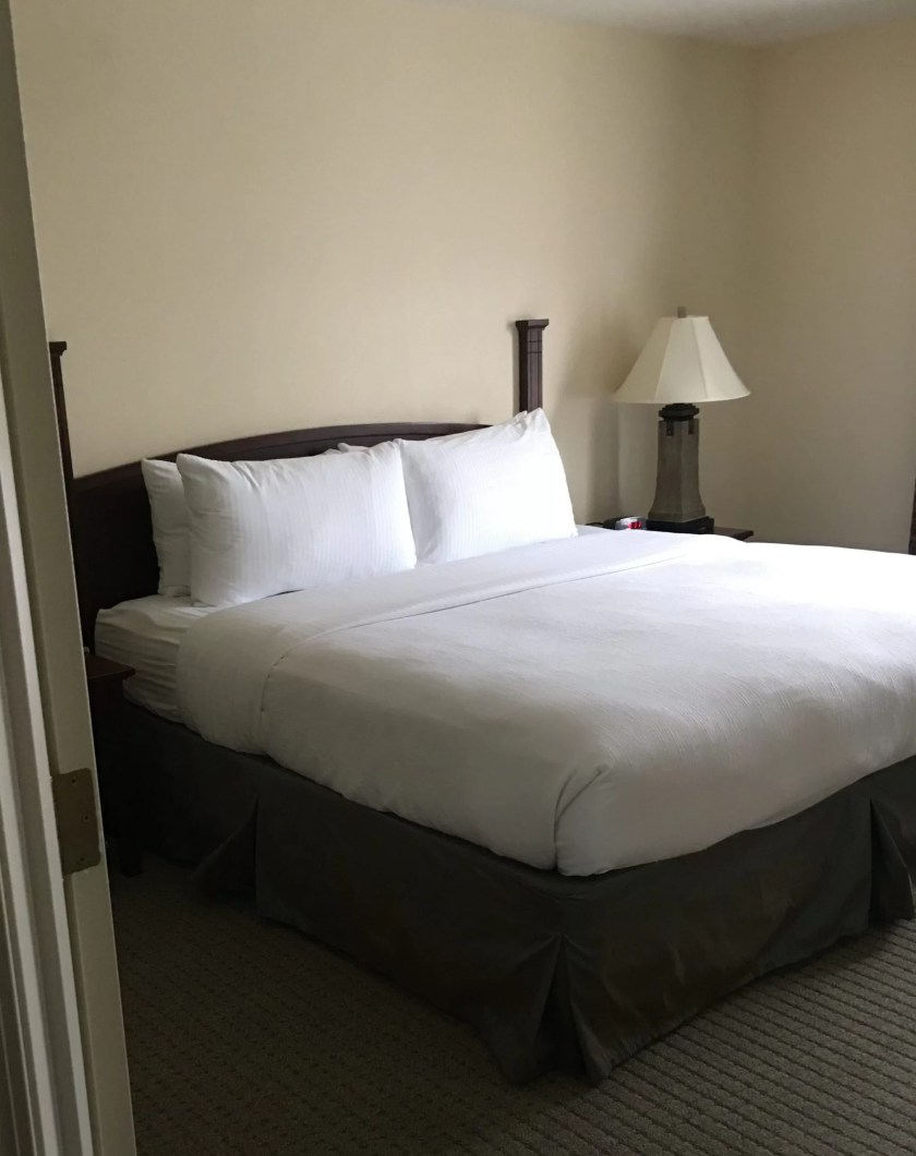 Staybridge Suites in Stow Ohio review king bed, king suite, one bedroom
