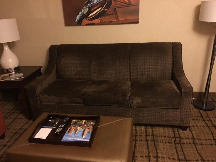 Embassy Suites Beachwood Ohio sofa fold-out