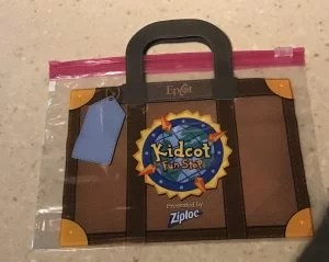 Kidcot Fun stop bag Epcot suitcase
