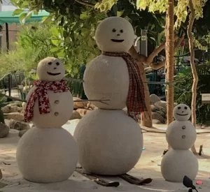 Snowman family in Living with the Land in Epcot