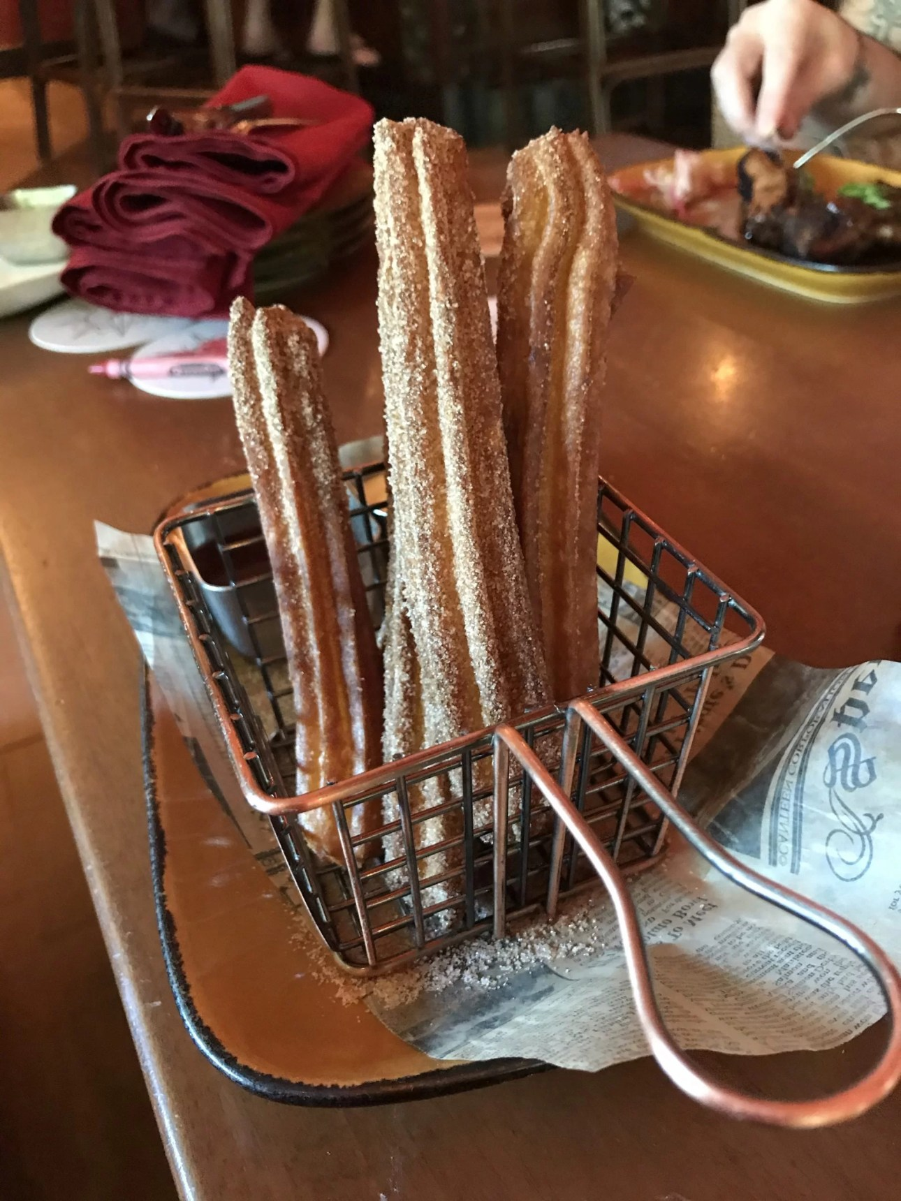 gluten-free churros at Nomad Lounge