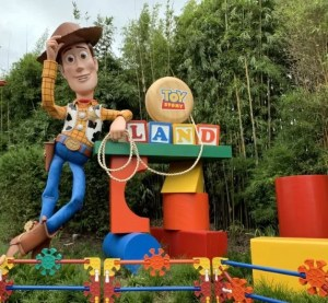 Toy Story Land Woody and blocks