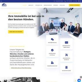 Website für Maile Hausverwaltung