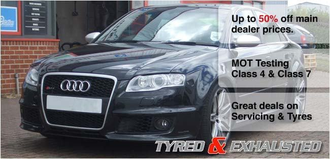 Great deals on servicing and tyres