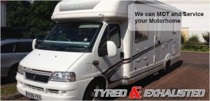 We can MOT and service your motorhome
