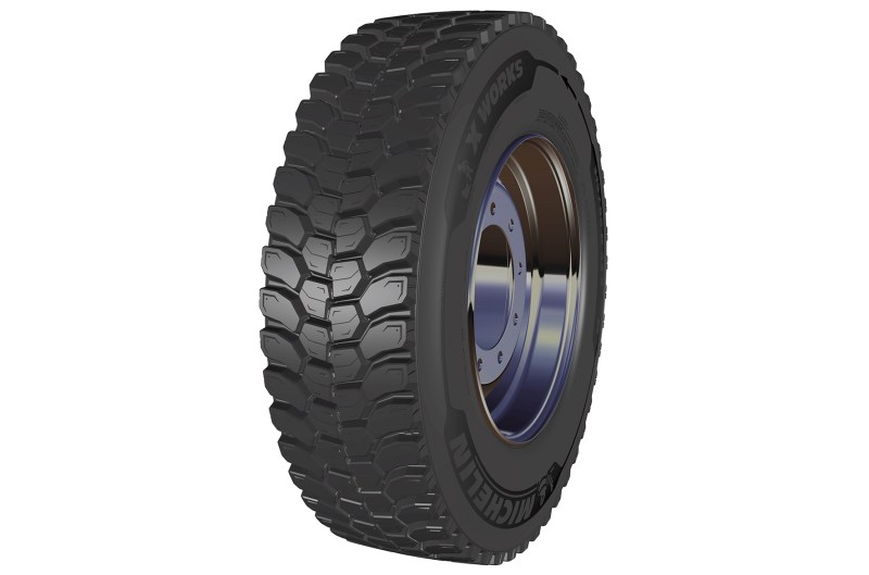 The new Michelin 315/80R22.5 X Works D (drive axle) tyre