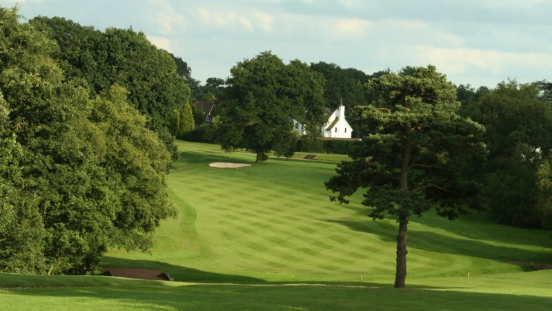 The 15th hole at the Mere Golf Course