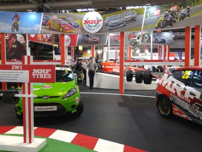 MRF displays expanded motorsport offering at Autosport