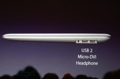 Macbook Air from the Side
