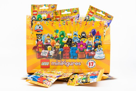 A box of Lego Minifigure Series 18 blind packs