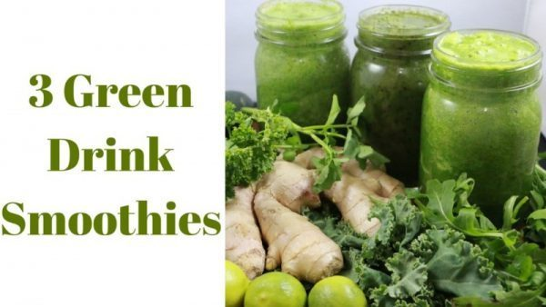 3 Green Drink Smoothies Alkaline Electric Raw Detox Recipes