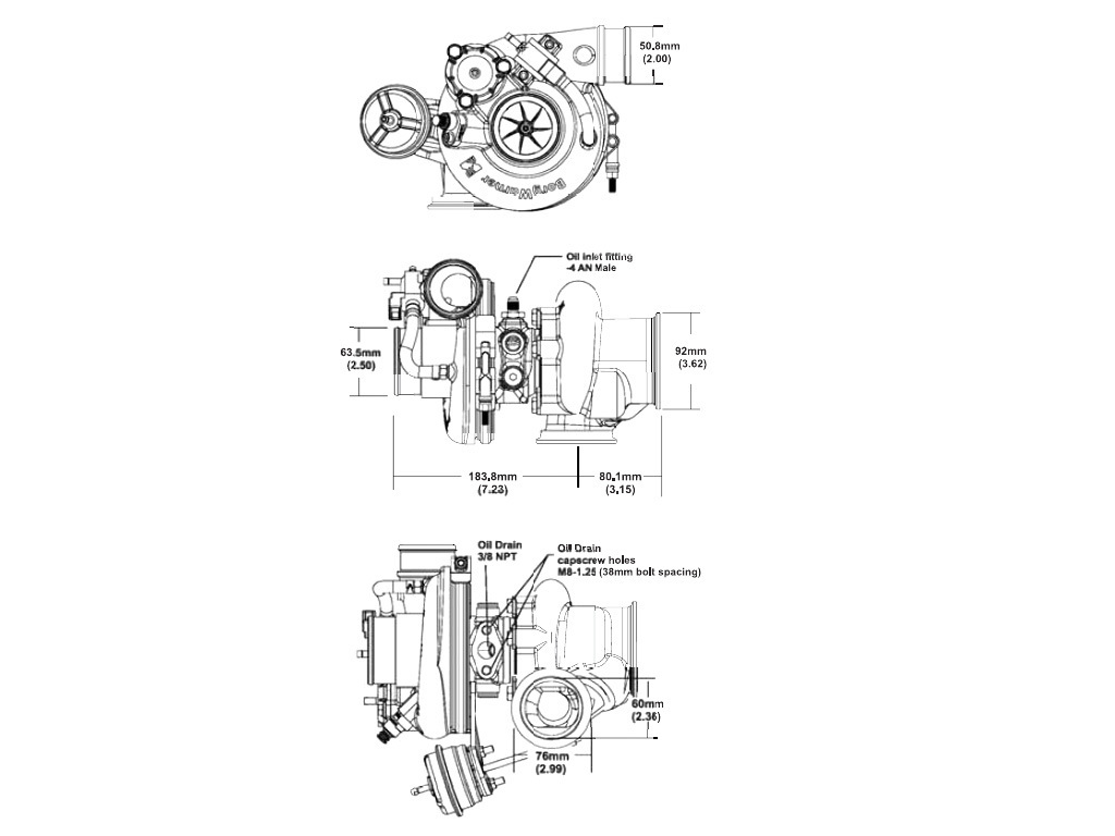 Borg Warner Efr F V Turbolader