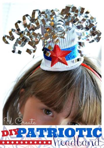 DIY Patriotic Headband With Mini Hat U Create