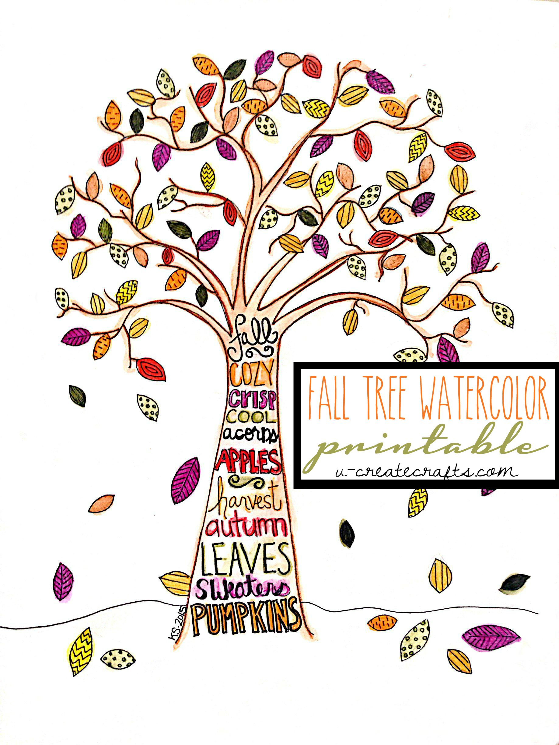 Free Fall Tree Pattern