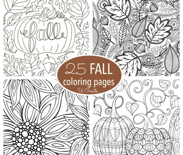 Free Fall Adult Coloring Pages U Create