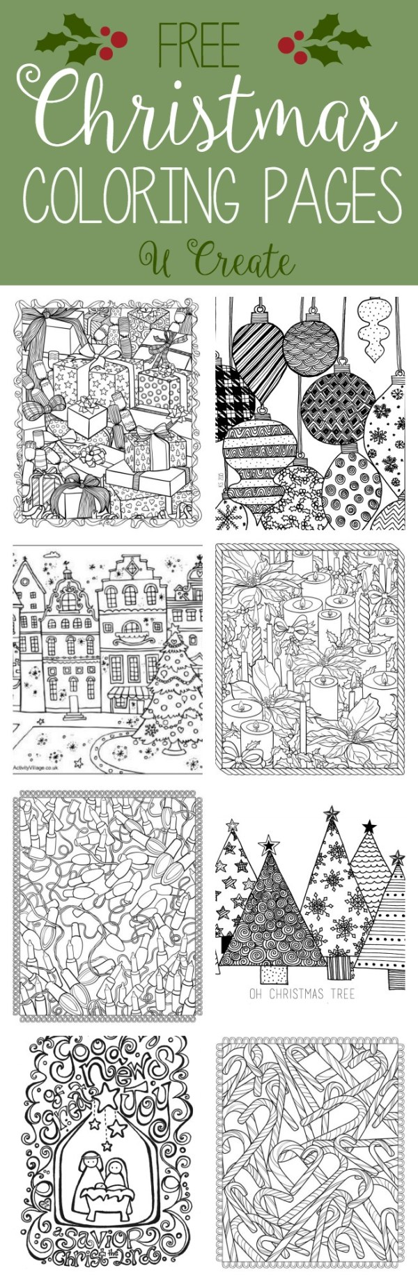 christmas coloring book pages # 81