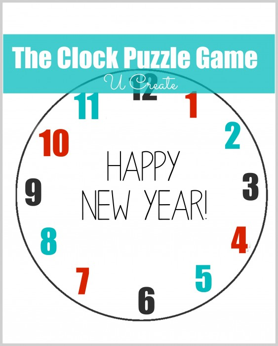 Clock Puzzle Minute to Win It Game